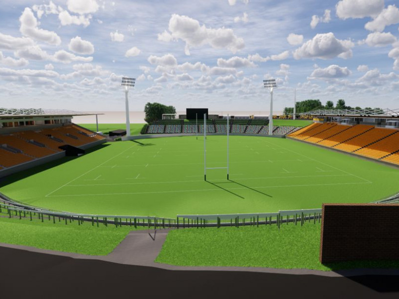 Yarrow Stadium - artist impression