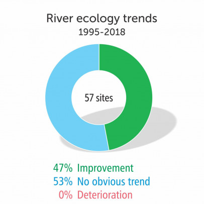 River ecology trends 1995-2018