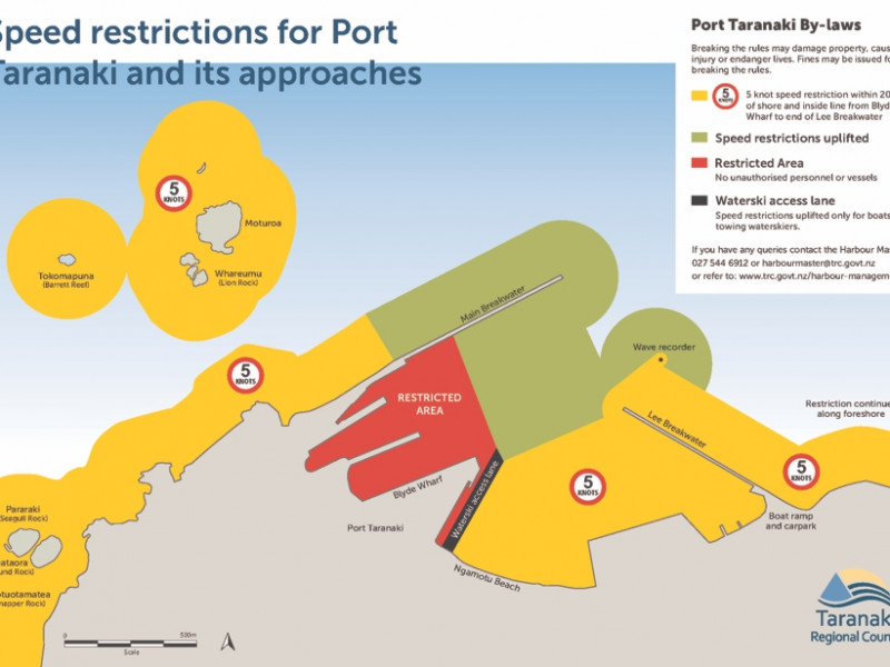 Port Taranaki speed restrictions