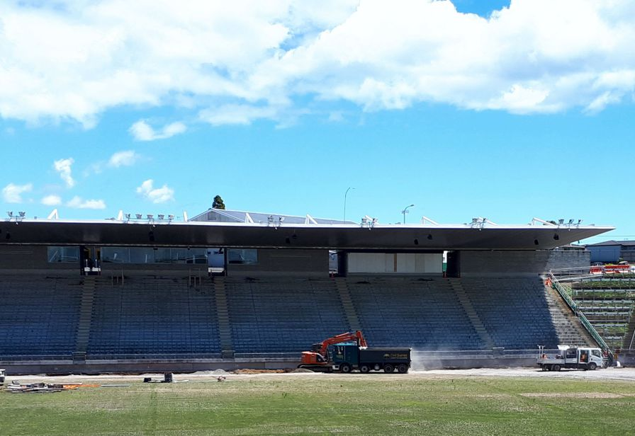West Stand repairs